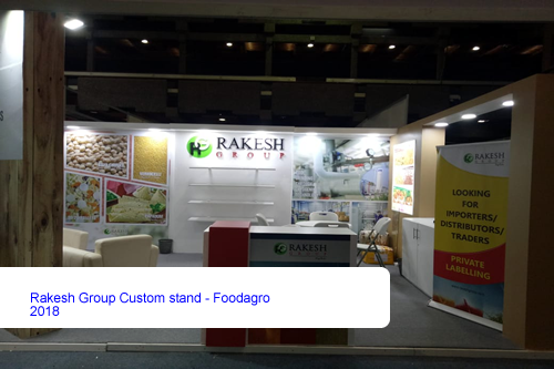 Rakesh Group Custom stand - Foodagro 2018